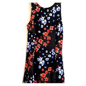 Black, Red, & Blue Floral - •F21•   Mini Dress